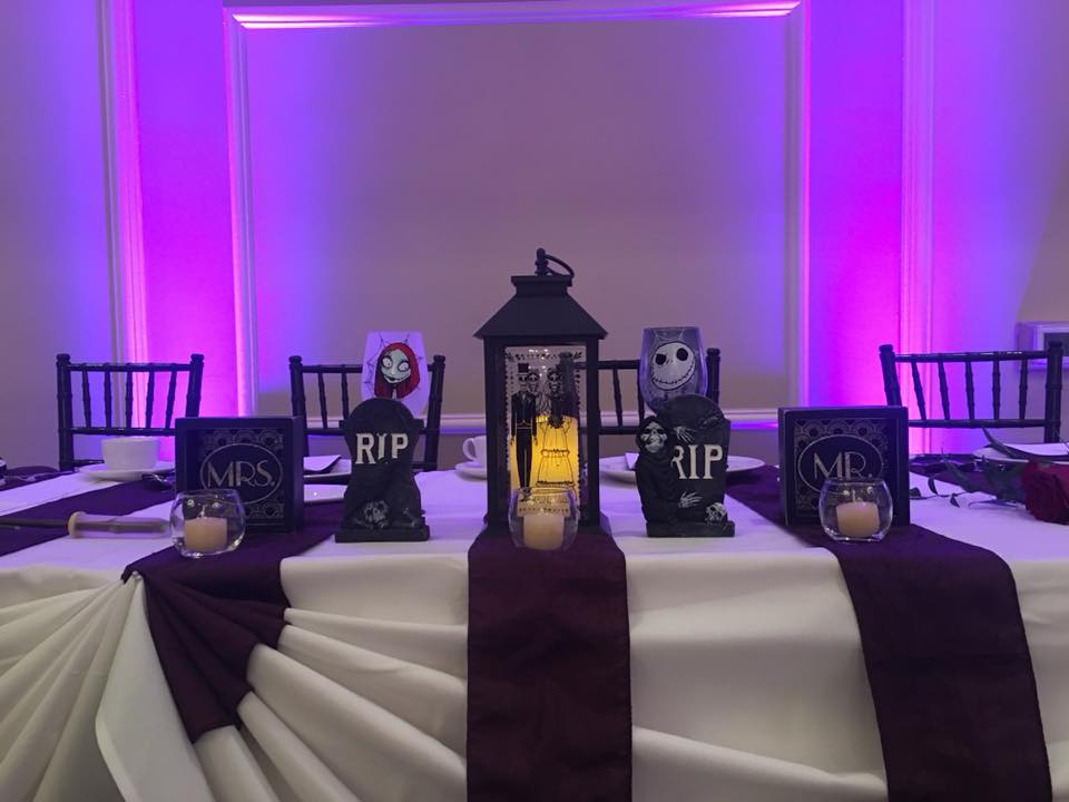 Nightmare Before Christmas themed head table